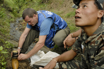 UNMIN Conducts Landmine Clearance Training in Nepal