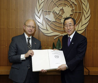 Secretary-General Receives Certified Copy of UN Charter. 02 January 2008. UN Photo # 167116