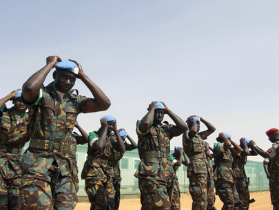 UNAMID Military Personnel Don Blue Beret