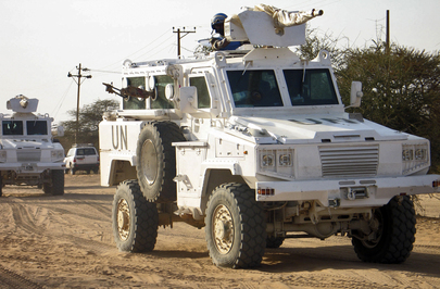 UNAMID Guards Supply Convoy