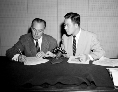 Frederic March Recording over U.N. Radio