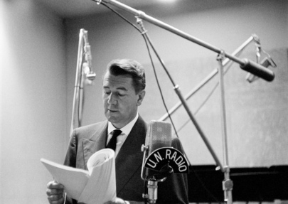 Michael Redgrave Recording over U.N. Radio