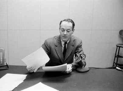 Henry Fonda, Stage and Screen Actor, Recording for U.N. Radio