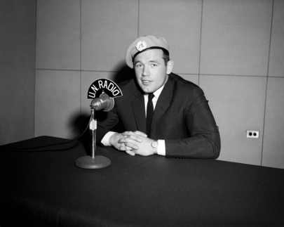 Ingemar Johansson Records Interview for U.N.Radio