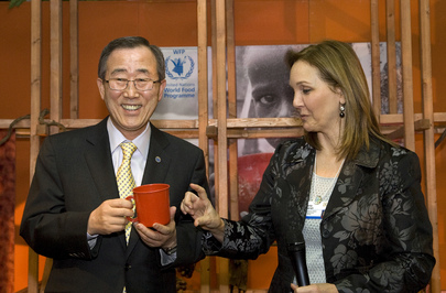 Secretary-General Attends Dinner Hosted by WFP