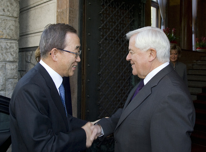 Secretary-General Meets former President of Slovenia