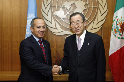 Secretary-General Meets President of Mexico