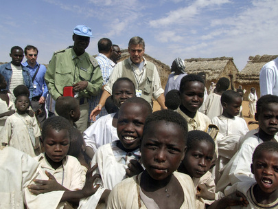 UN Messenger for Peace Visits North Darfur IDP Camp