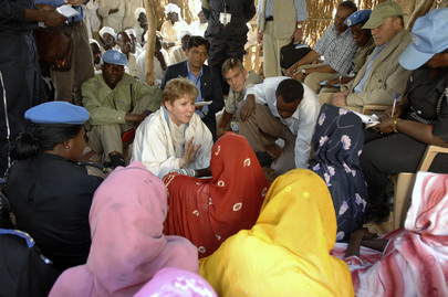 United Nations Delegation Visits North Darfur IDP Camp