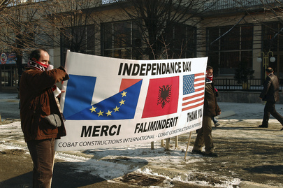 Albanians Celebrate Declaration of Independence in Kosovo