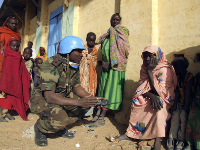 UNAMID Peacekeeper on Patrol