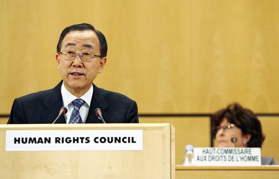 Dia Internacional para o Direito à Verdade sobre Violações Graves de Direitos Humanos e para a Dignidade das Vítimas Na foto, o Secretário-Geral das Nações Unidas, Ban Ki-moon. (ONU/Mark Garten)