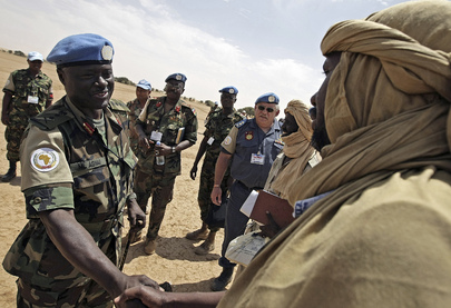 UNAMID Force Commander Meets SLA Commanders