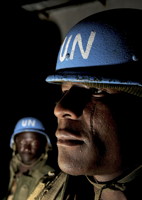 UNAMID Peacekeepers Prepare for Night Patrol