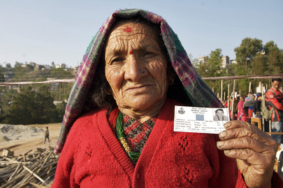 United Nations Mission in Nepal - 80-Year-old Nepalese Woman Participates in Historic Elections
