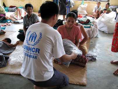 "Cyclone ""Nargis"" Victims Receive UNHCR Assistance"