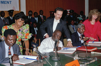 Signing of Lusaka Protocol by Government of Angola and UNITA