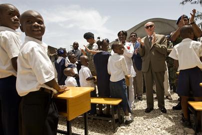 Head of MINUSTAH Attends School Inauguration