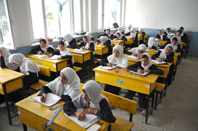 Female Students in Afghanistan School