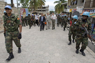 USG for Peacekeeping Tours Haitian Capital