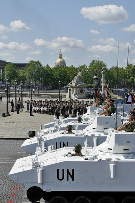 United Nations Peacekeepers Participate in Bastille Day Parade