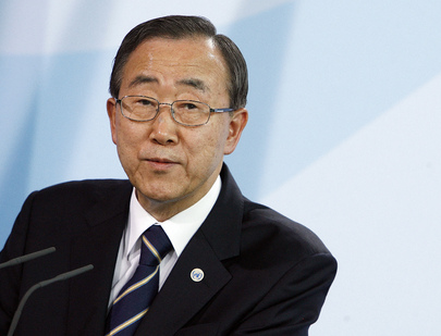 Ban Ki-moon preocupado com os disparos em Golã (ONU/Mark Garten)