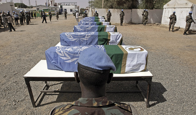 UNAMID Soldiers from Gambia Honour Fallen Colleagues