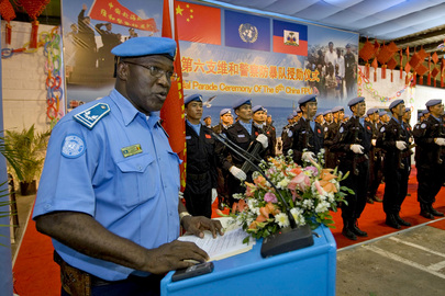 MINUSTAH Honours Chinese Peacekeepers