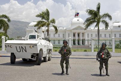 MINUSTAH Peacekeepers Patrol Streets