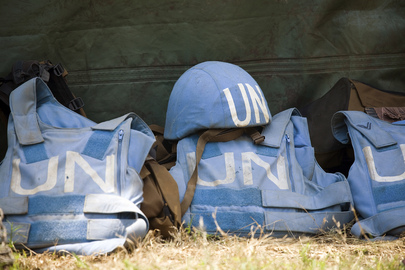 Helmet and Flack Jackets of MONUC Peacekeepers