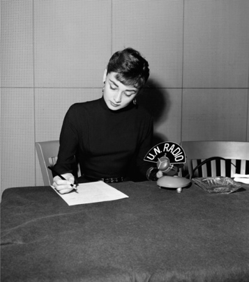 Audrey Hepburn Interviewed at U.N. Headquarters