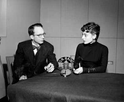 Actress Audrey Hepburn Interviewed at U.N. Headquarters