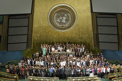 Secretary-General in Group Photo United Nations Interns