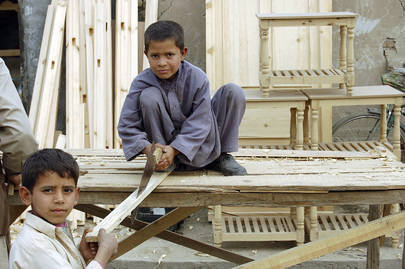 Afghan Boys Learn Carpentry Skills