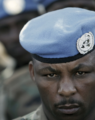 UNAMID Peacekeeper Attends Funeral Service for Fallen Colleagues