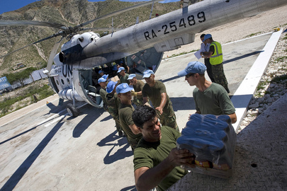 MINUSTAH Delivers Food Supplies to Storm Victims