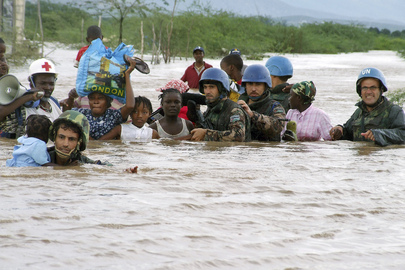 MINUSTAH Military Personnel Assists Hurricane Victims