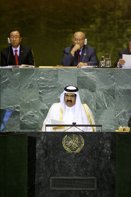 Amir of Qatar Addresses General Assembly