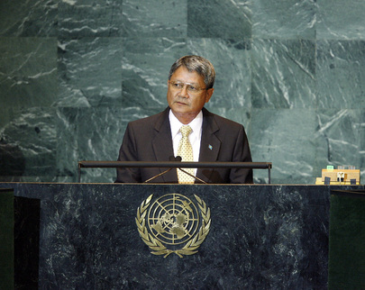 Vice President of Palau Addresses General Assembly