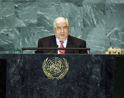 Foreign Minister of Syrian Arab Republic Addresses General Assembly