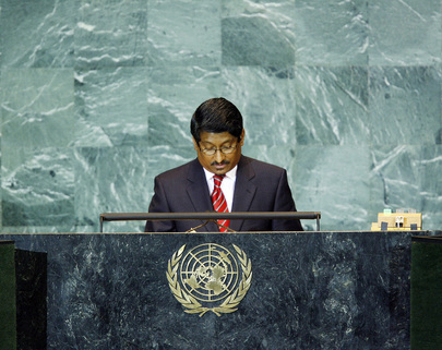 Permanent Representative of Maldives Addresses General Assembly