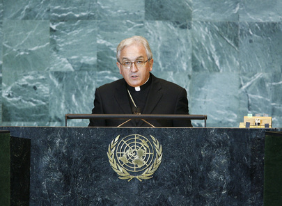 Holy See UN Permanent Observer Addresses General Assembly