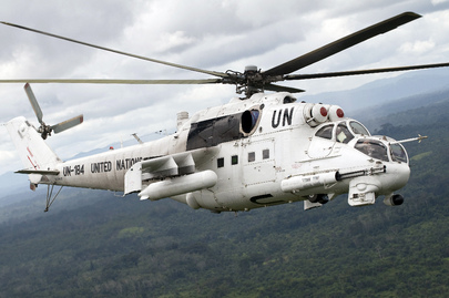 UN Helicopter on Aerial Patrol
