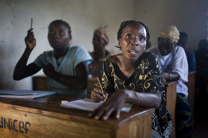 Liberian Women Take Literacy Class through Pilot Project