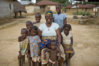 Midwife in Tonglewin Village, Liberia