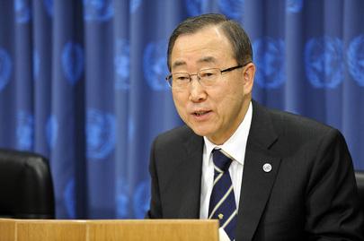 Ban Ki-moon, Secretário-Geral da ONU (UN Photo/Mark Garten)