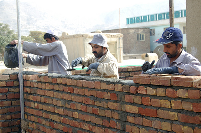 Construction Workers in Kabul
