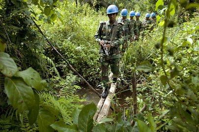 UNMIL Peacekeepers on Patrol