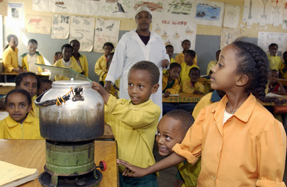 Classroom Science Experiment in Ethiopia
