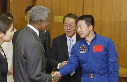 Secretary-General Meets With First Chinese Astronaut